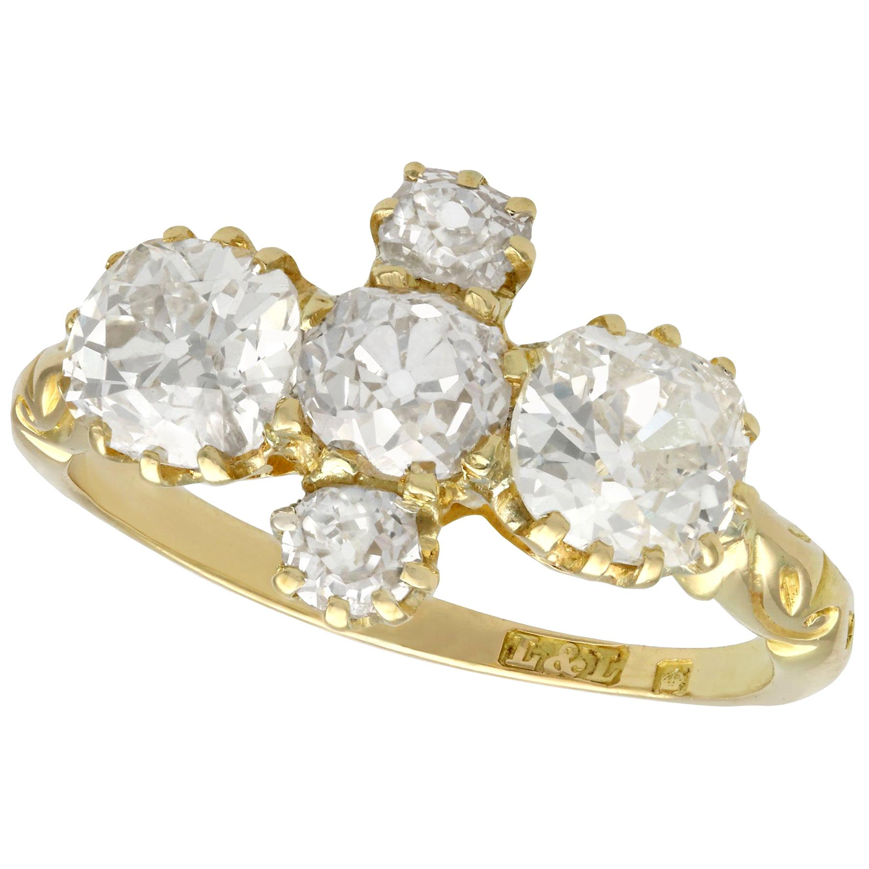Antique Victorian Diamond and Yellow Gold Engagement Ring Circa 1890