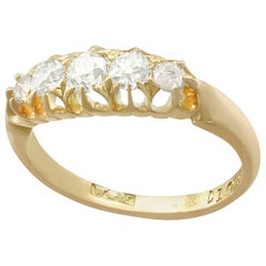 Antique Victorian Diamond and Yellow Gold Five-Stone Ring