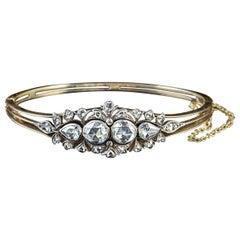 Antique Victorian Diamond Bangle 18 Karat Gold 4 Carat Diamond, circa 1900