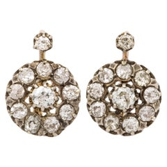 Antique Victorian Diamond Drop Earrings
