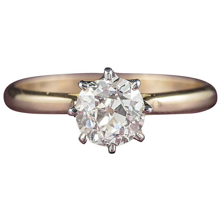 Antique Engagement Rings For Sale: Antique Victorian Diamond Engagement Ring 18 Carat Gold