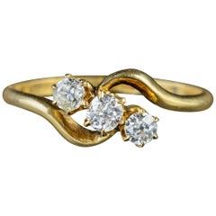 Antique Victorian Diamond Trilogy 18 Carat Gold, circa 1900 Ring
