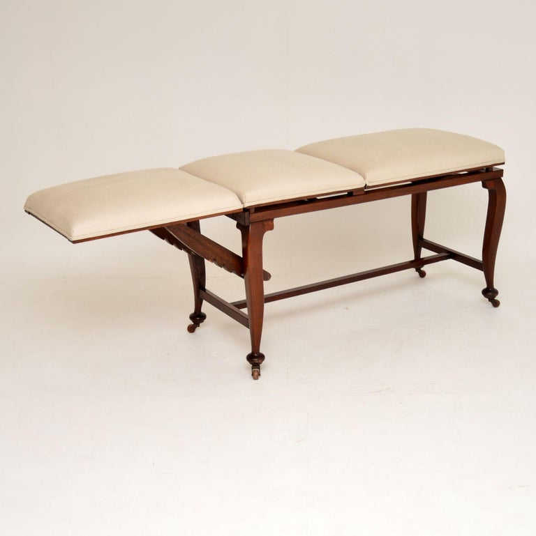 British Antique Victorian Doctors Bed / Chaise Longue For Sale