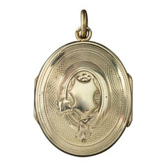Antique Victorian Double Sided Family Locket 9 Carat Gold, circa 1900