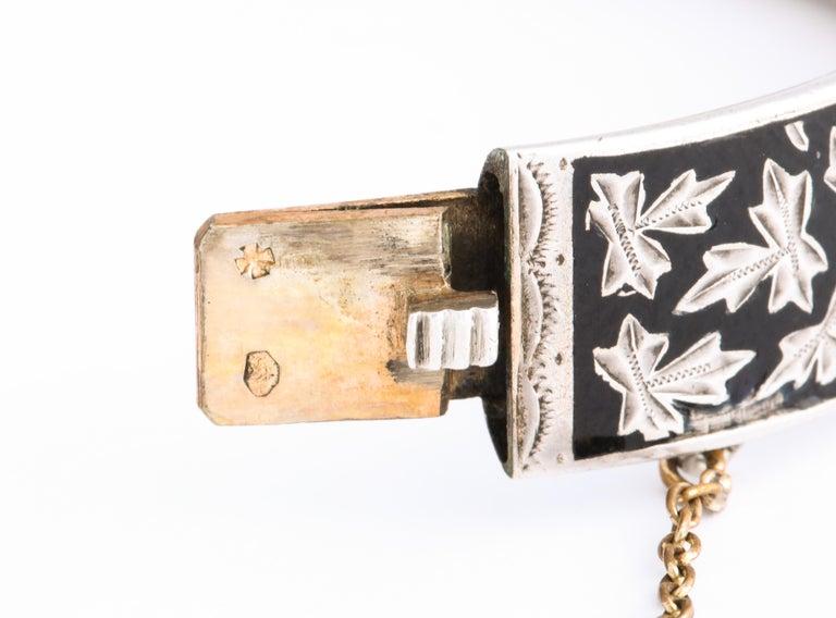 Antique Victorian Enamel and Silver Chrerub Bracelet For Sale 4