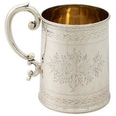 Antique Victorian English Sterling Silver Christening Mug