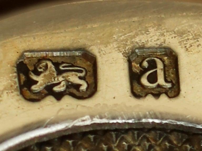 Antique Victorian English Sterling Silver Combination Sovereign/Vesta Case For Sale 6