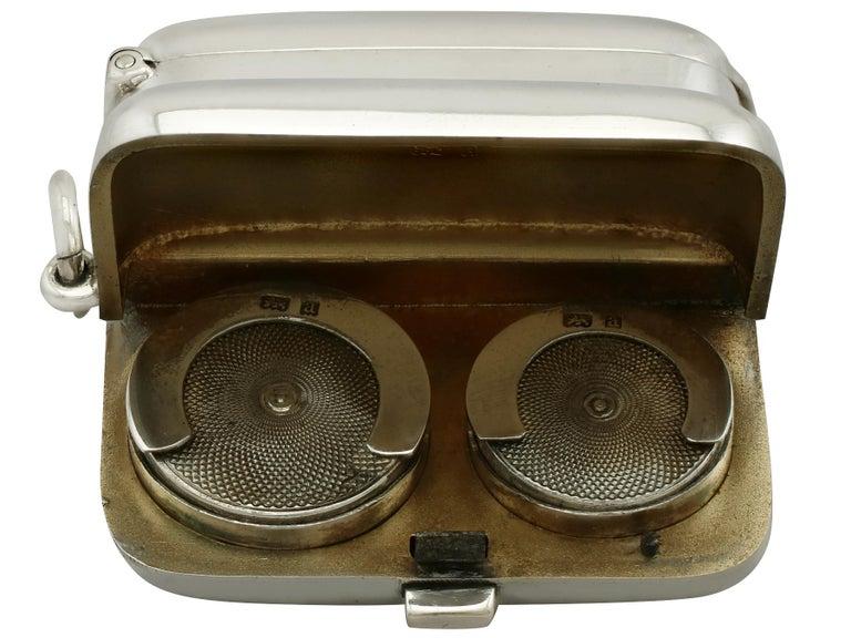Antique Victorian English Sterling Silver Combination Sovereign/Vesta Case For Sale 3