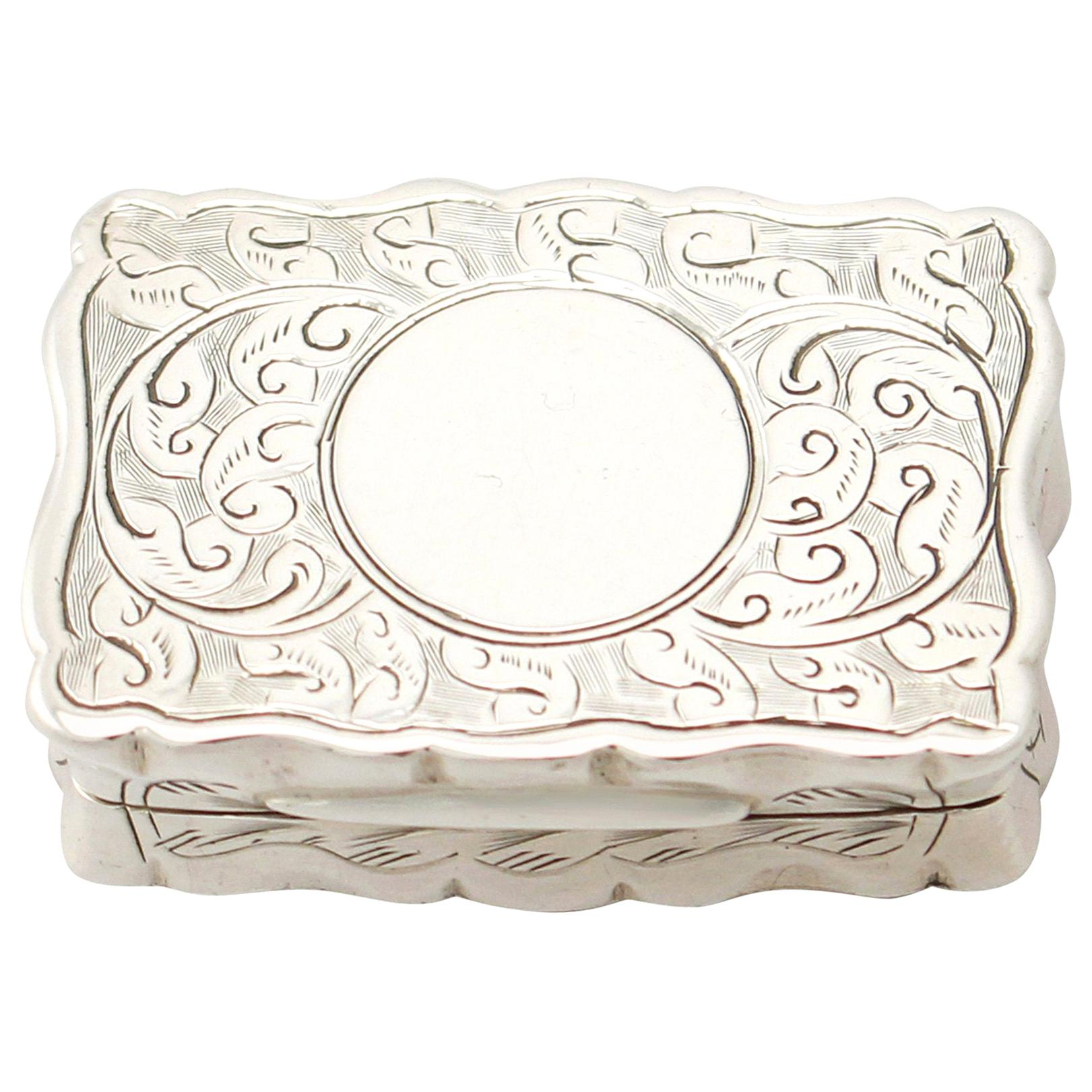 Antique Victorian English Sterling Silver Vinaigrette