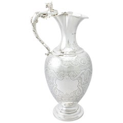 Antique Victorian English Sterling Silver Wine Ewer