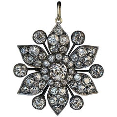Antique Victorian Era 7.80 Carat Diamond Pendant