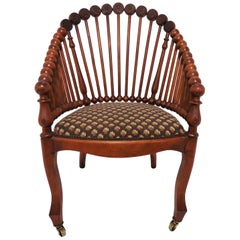 "Antique Victorian Era George Hunzinger ""Lollipop"" Chair"