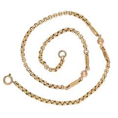 Antique Victorian Fancy-Link Gold Belcher Chain