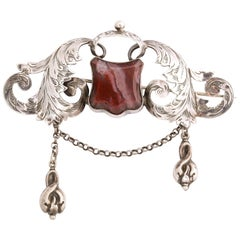 Antique Victorian Fancy Scottish Silver Brooch