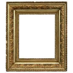 Antique Victorian First Finish Giltwood Painting Frame, c 1890