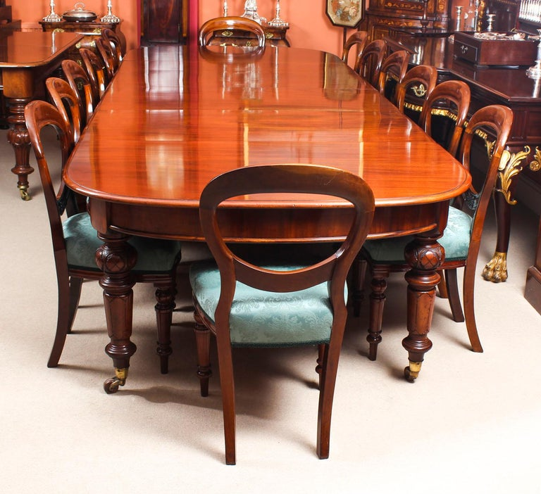 Antique Victorian Flame Mahogany D End Extending Dining Table 19th Century In Good Condition For Sale In London, GB