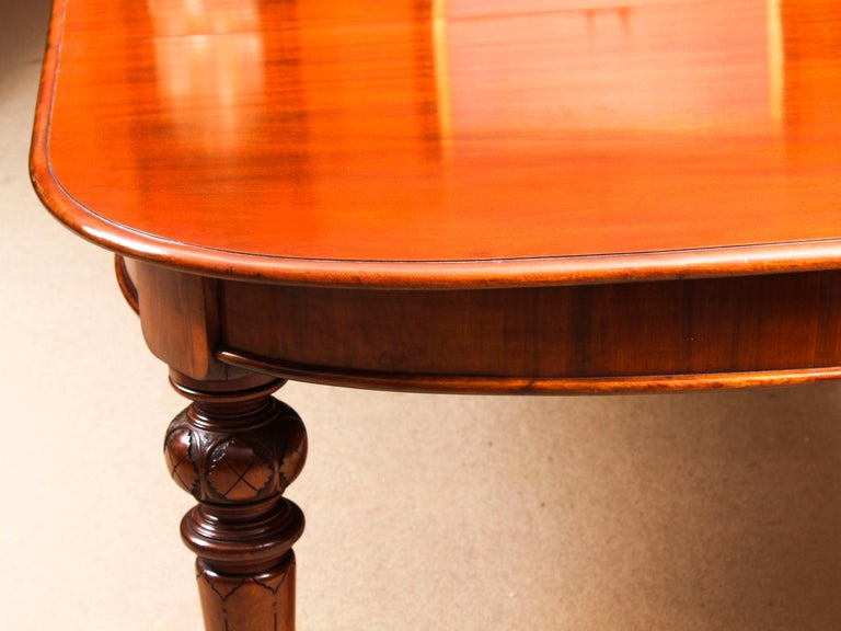 Antique Victorian Flame Mahogany D End Extending Dining Table 19th Century For Sale 3