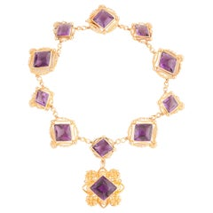 Antique Victorian Gold and Amethyst Necklace