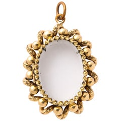 Antique Victorian Gold and Glass Locket
