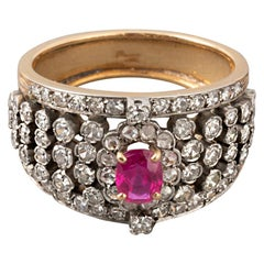 Antique Victorian Gold and Ruby Ring