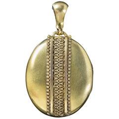 Antique Victorian Gold Gilded Silver Locket, circa 1880