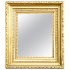 Antique Victorian Gold Giltwood Classical and Deep Wall Mirror, circa 1890