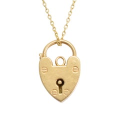 Antique Victorian Gold Heart Padlock