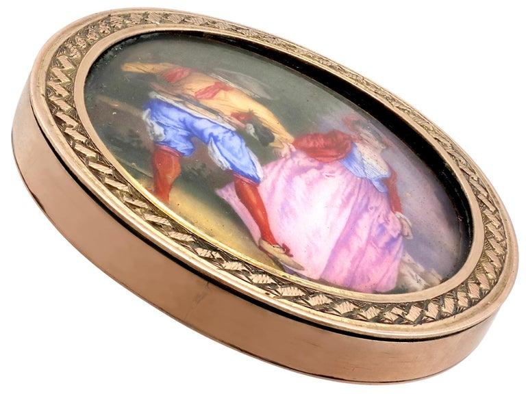 Antique Victorian Yellow Gold Miniature Portrait Pendant For Sale 3