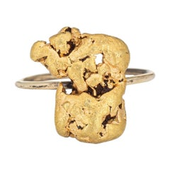 Antique Victorian Gold Nugget Conversion Ring 14k Vintage Mined Jewelry Estate