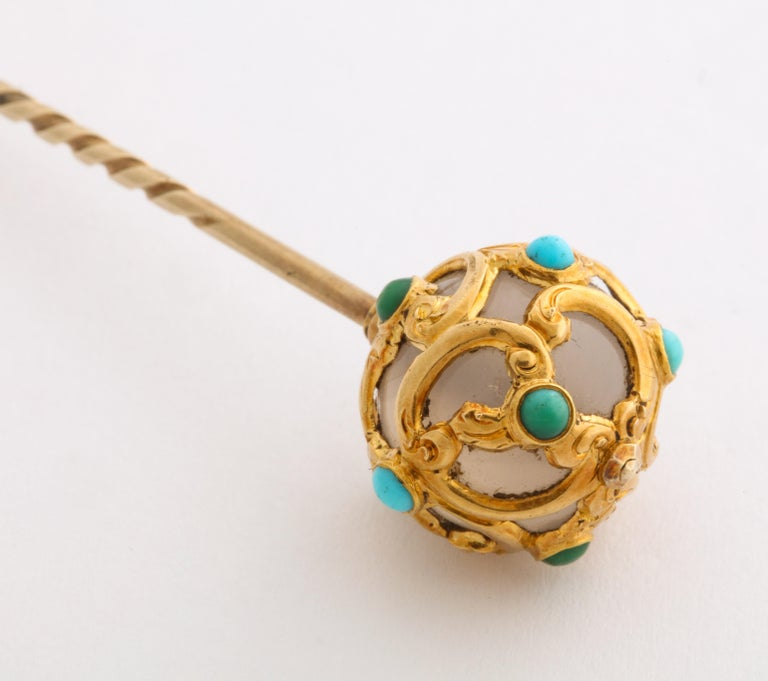 Round Cut Antique Victorian Gold Stickpin Collection For Sale
