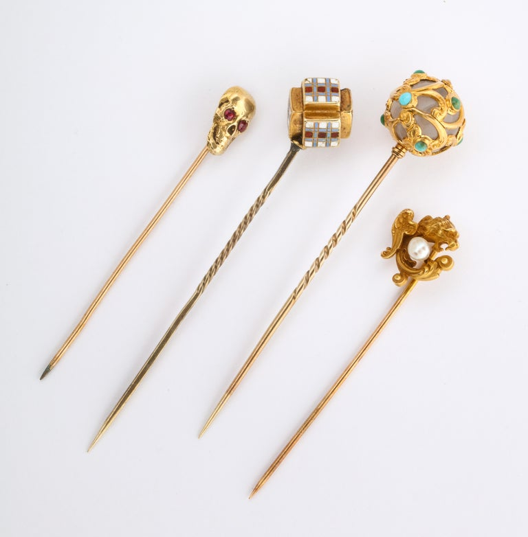 Antique Victorian Gold Stickpin Collection For Sale 2