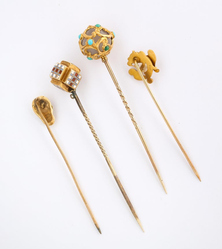 Antique Victorian Gold Stickpin Collection For Sale 3