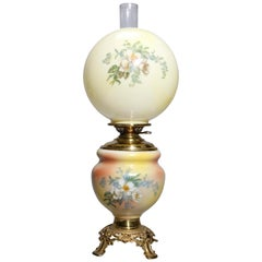 Antique Victorian Gone with the Wind Parlor Lamp, circa 1890