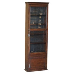 Antique Victorian Hardwood Gun Case or Cupboard Converted into Library Bookcase