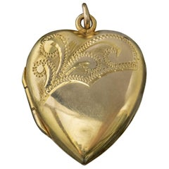 Antique Victorian Heart Locket 9 Carat Gold, circa 1880