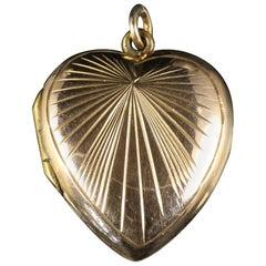 Antique Victorian Heart Locket 9 Carat Gold, circa 1900