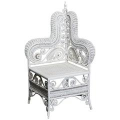 Antique Victorian Heywood Wakefield (attr.) Photographers Chair, Circa 1890