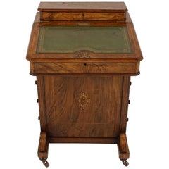 Antique Victorian Inlaid Burr Walnut Davenport Desk, Scotland, 1890, B2122