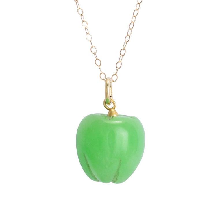 Antique victorian jade green apple pendant necklace for sale at 1stdibs antique victorian jade green apple pendant necklace for sale aloadofball Images