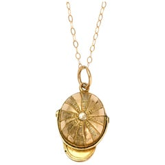 Antique Victorian Jockey Cap Compass Pendant
