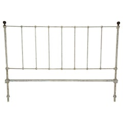 Antique Victorian King Iron Headboard