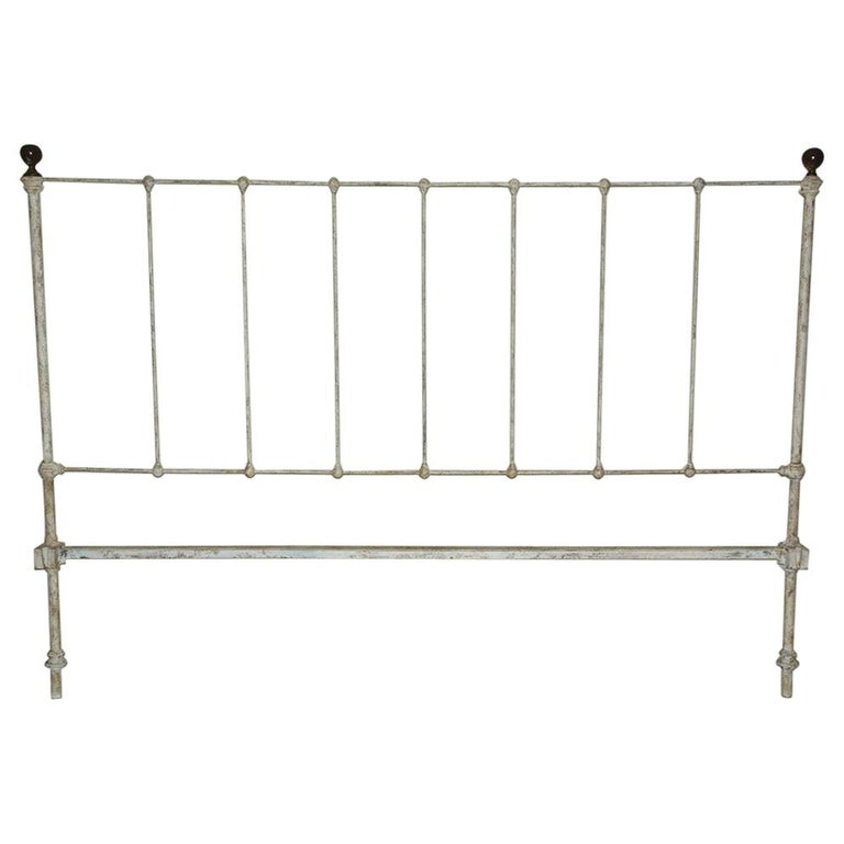 Antique Victorian King Iron Headboard For Sale