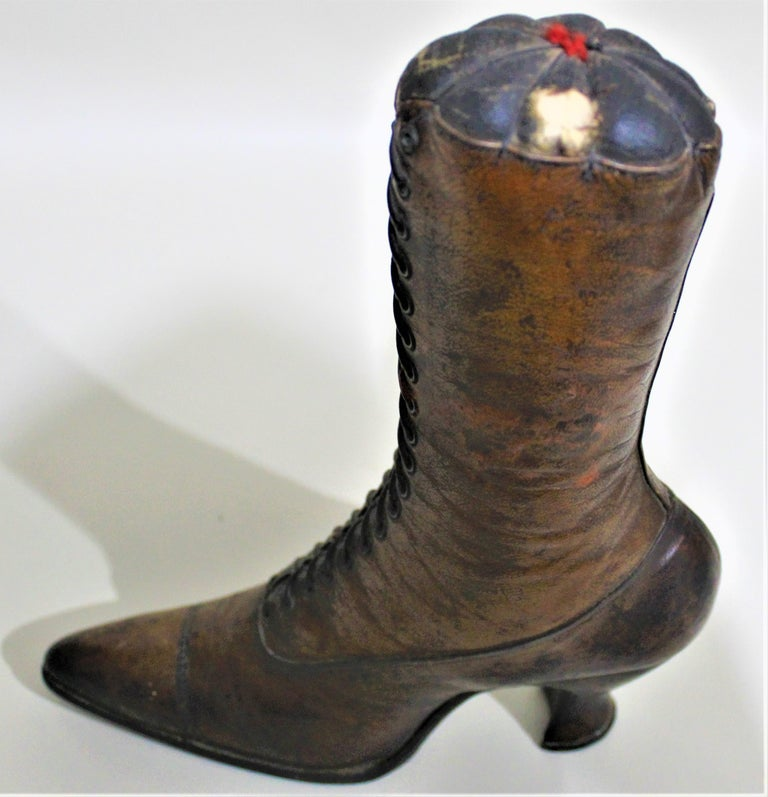 Antique Victorian Ladies Leather Piedmont Shoes Boots Mercantile Store Display  For Sale 3