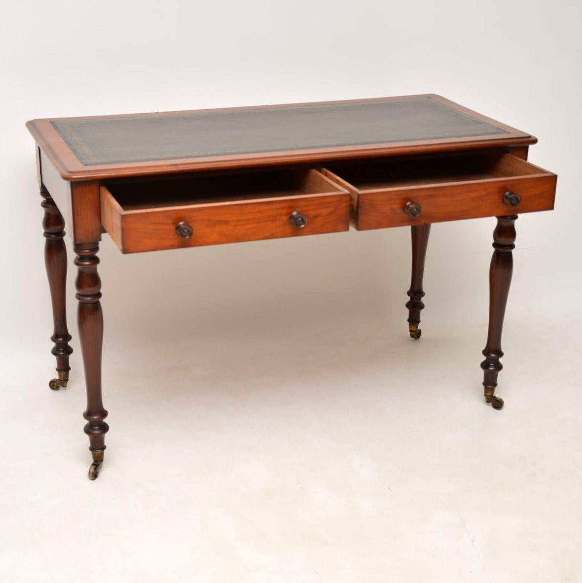 Antique Victorian Leather Top Mahogany Writing Table or Desk For Sale at  1stdibs - Antique Victorian Leather Top Mahogany Writing Table Or Desk For