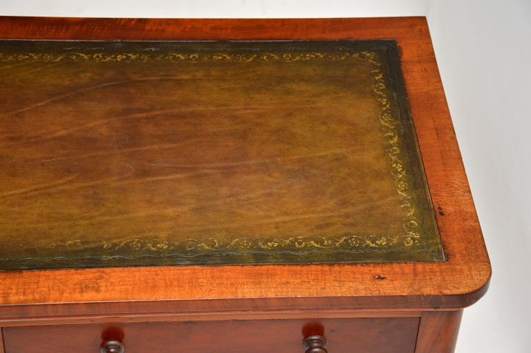 Antique Victorian Leather Top Writing Table / Desk For Sale 5