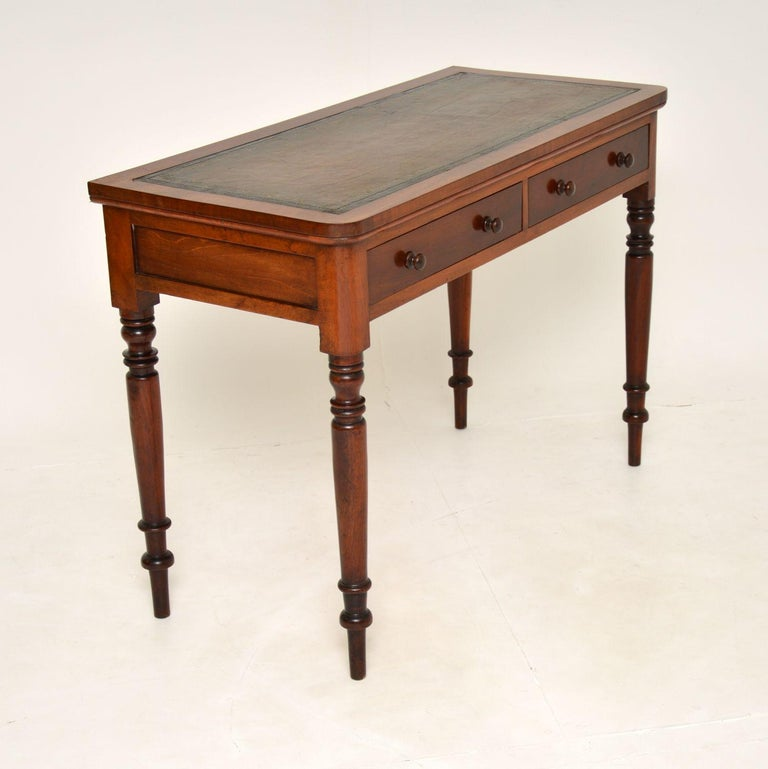 Antique Victorian Leather Top Writing Table / Desk For Sale 1