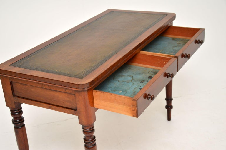 Antique Victorian Leather Top Writing Table / Desk For Sale 2