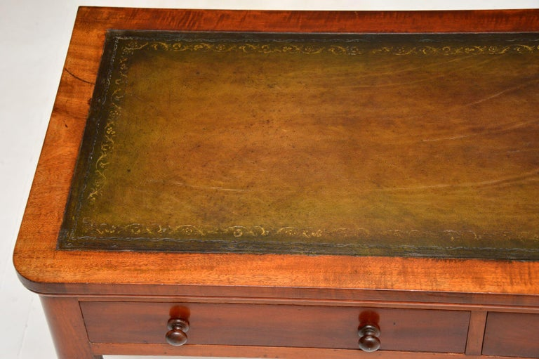 Antique Victorian Leather Top Writing Table / Desk For Sale 4