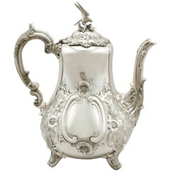 Antique Victorian Louis Style Sterling Silver Coffee Pot