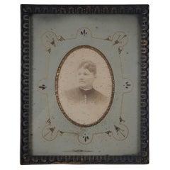 Antique Victorian Low Relief Giltwood Picture Art Photo Frame & Portrait